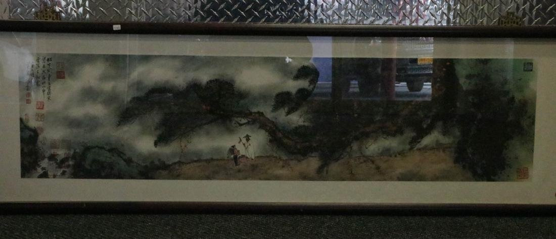 Chinese Watercolor Painting, Signed