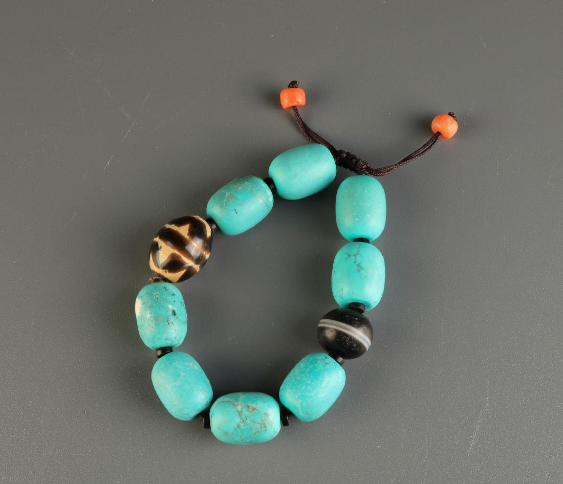 American Turquoise Beads Necklace