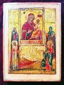 19c Russian icon of Tikhvinskaya Mother of God