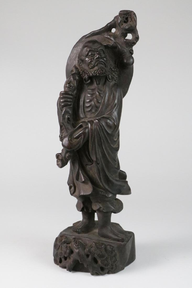 Chinese possible ZiTan wood carving of LoHan