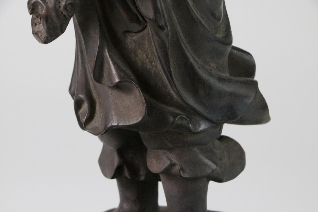 Chinese possible ZiTan wood carving of LoHan - 4
