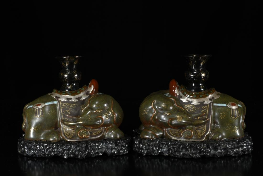 Pair Of Chinese Porcelain Elephant