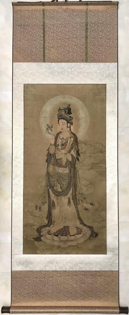 Chinese water color painting of GuanYin