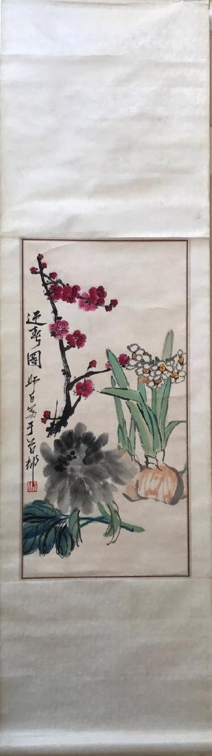Lou, ShiBai. Chinese water color of Spring