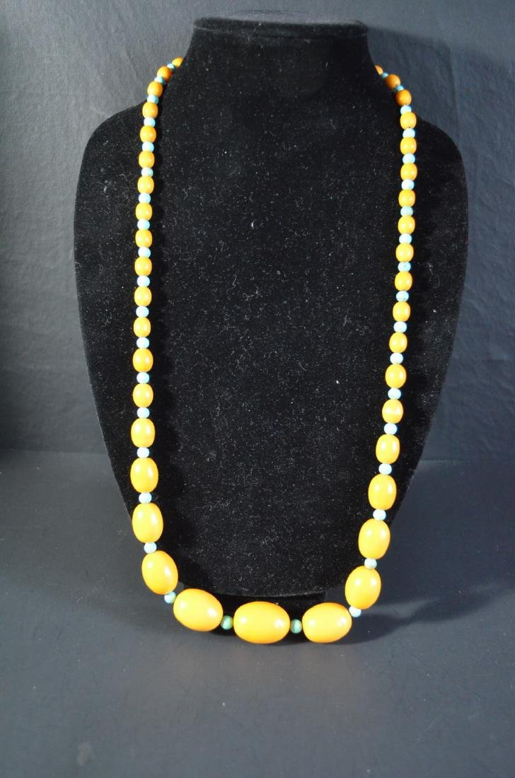 Chinese butterscotch amber necklace
