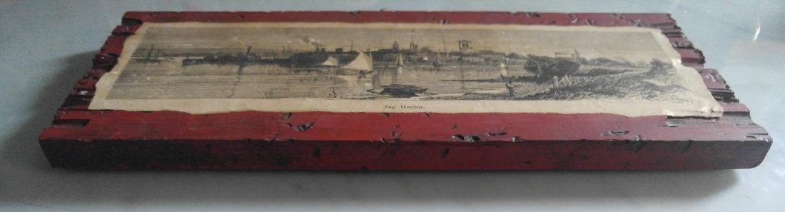Vintage etching on paper of Sag Harbor New York - 5