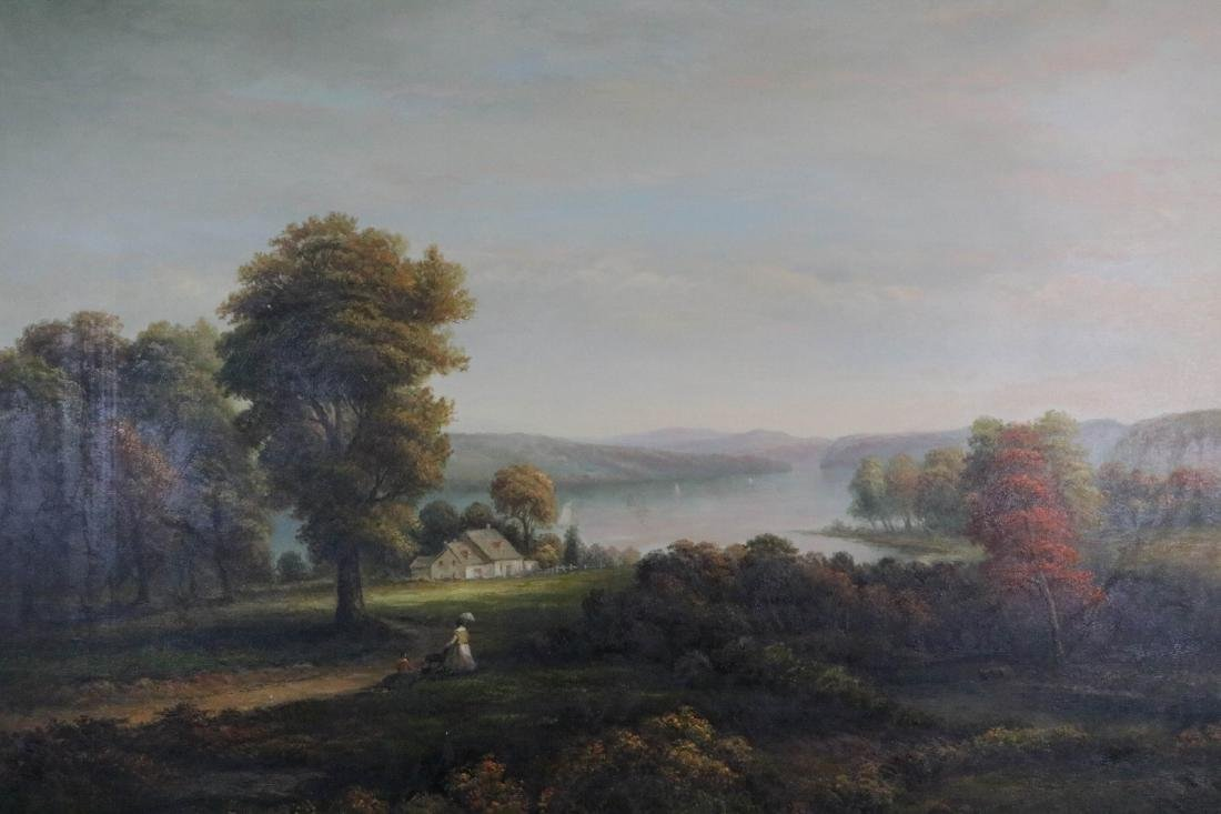 Large oil painting on canvas of landscape - 2