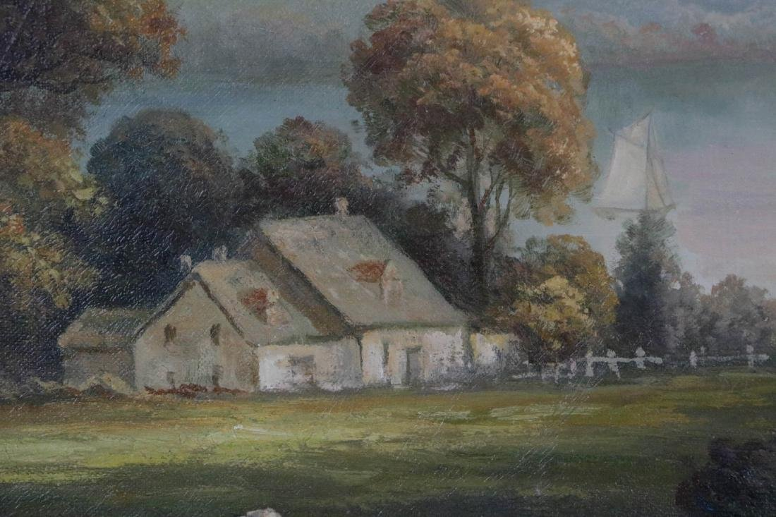 Large oil painting on canvas of landscape - 4