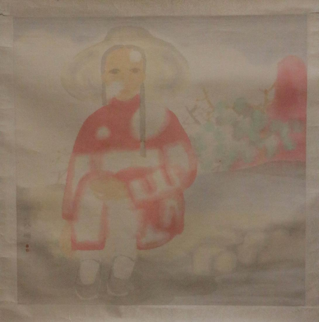 Tian, LiMing. Chinese color painting of lady