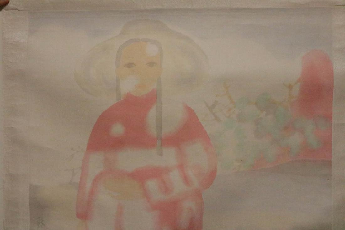 Tian, LiMing. Chinese color painting of lady - 2