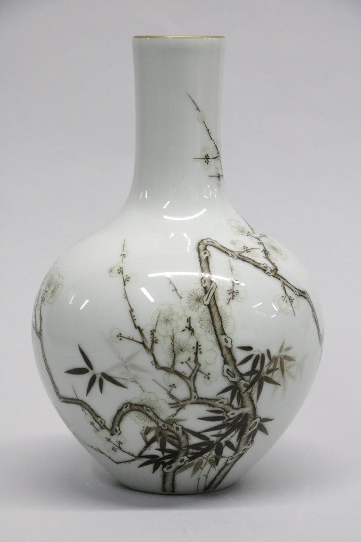 Chinese ink color style porcelain vase