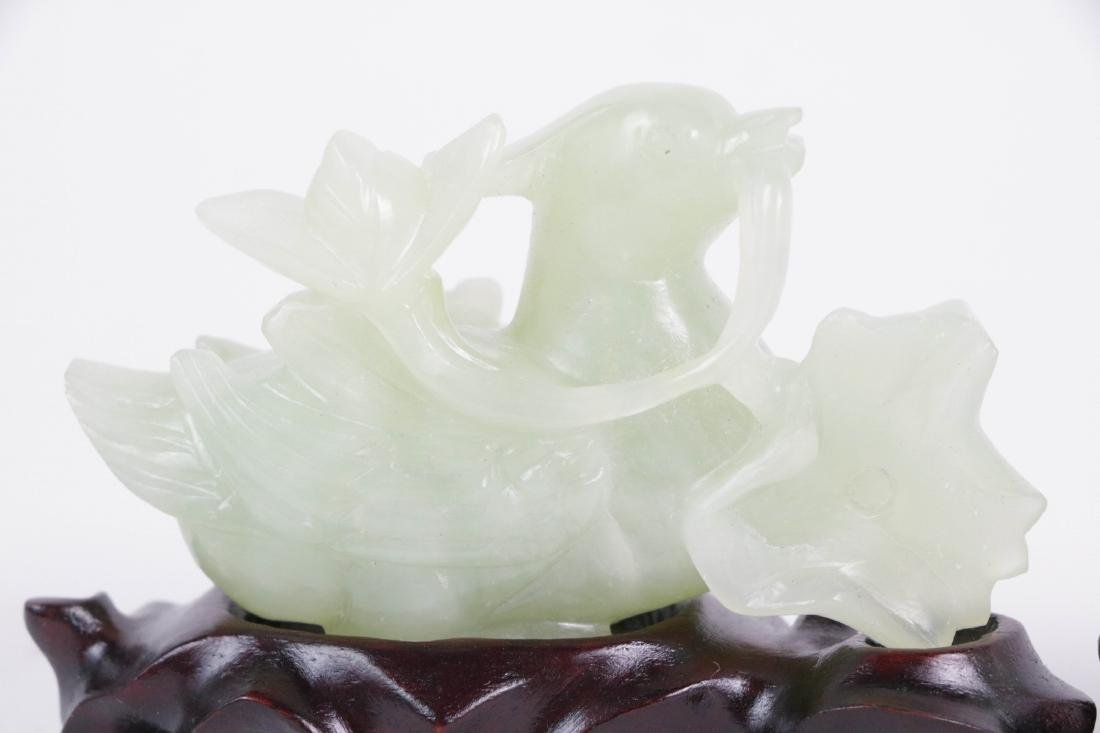 Pair of Chinese Carved Goose Jade Pieces - 2