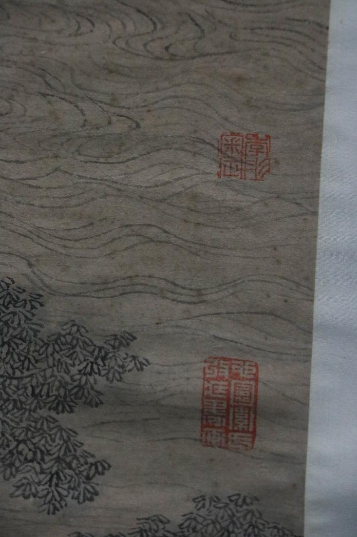 Chinese water color painting of landscape figures - 5