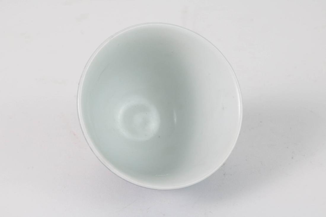 Chinese Blue Glazed Small Porcelain Cup - 2