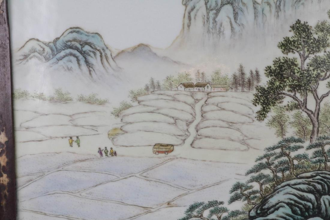 Chinese Porcelain Plaque - 3