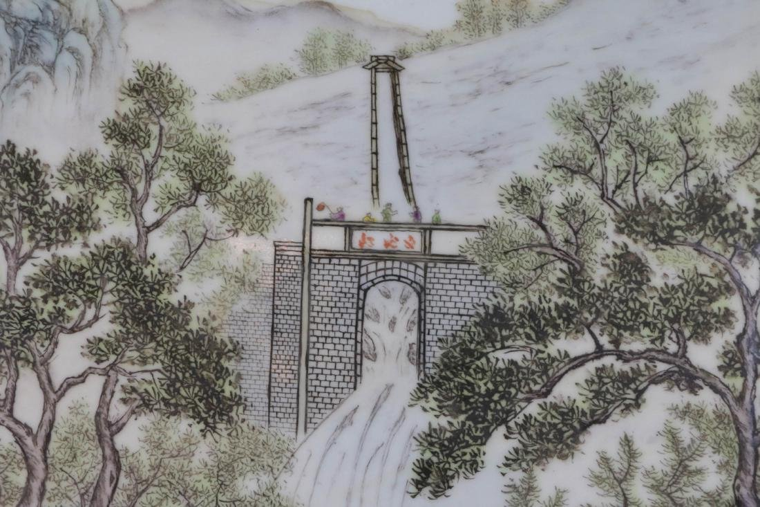 Chinese Porcelain Plaque - 4