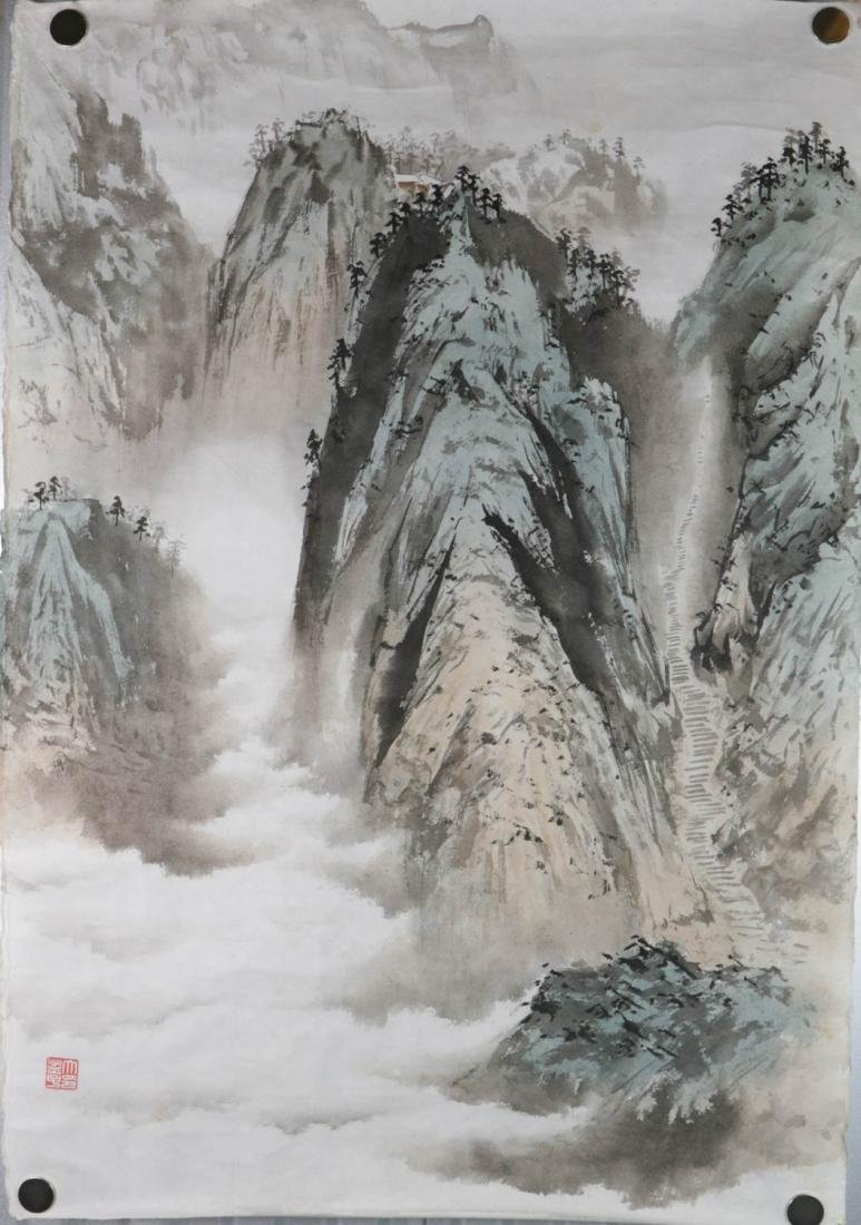 Chinese Water Color Painting of Landscape