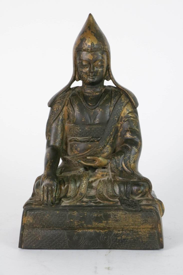 Chinese Bronze Seated Buddha