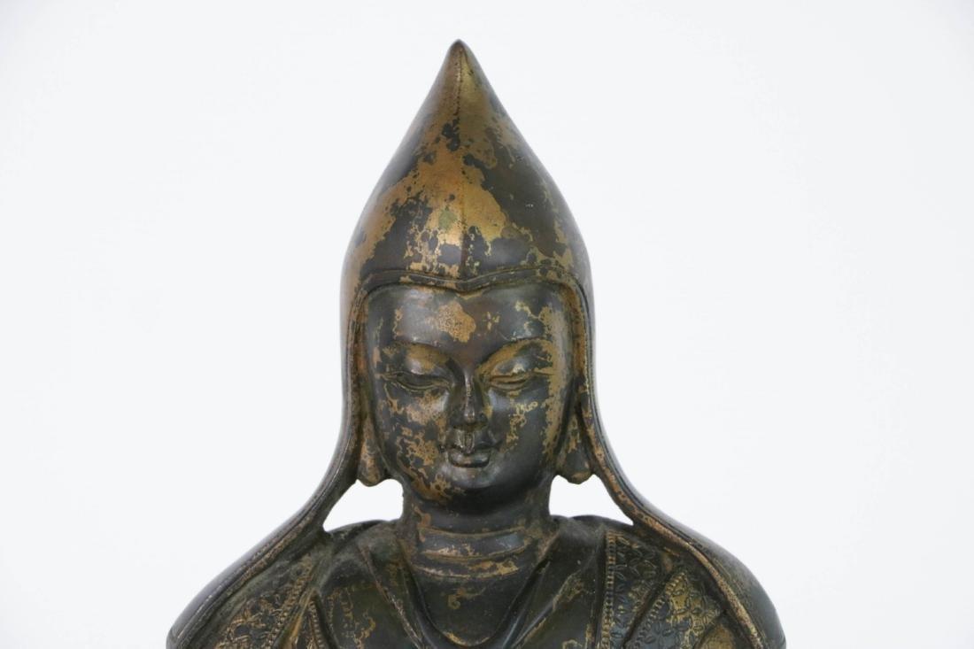 Chinese Bronze Seated Buddha - 2