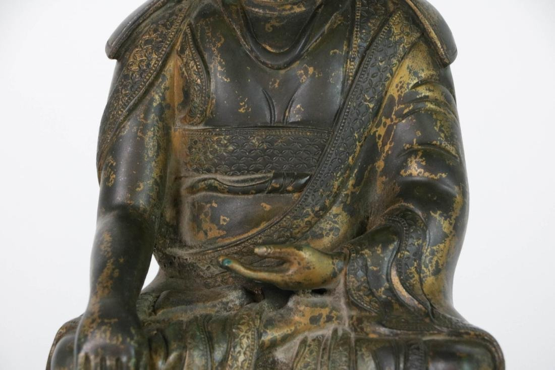 Chinese Bronze Seated Buddha - 3