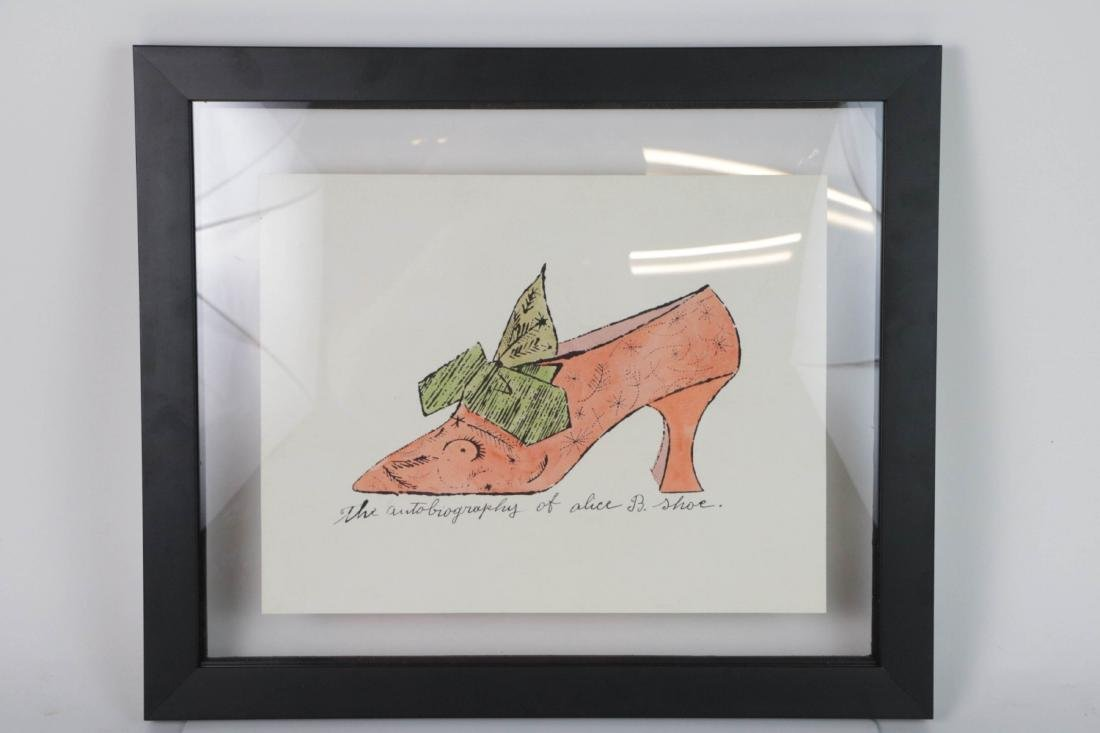 Andy Warhol. Image of Shoe with Seal