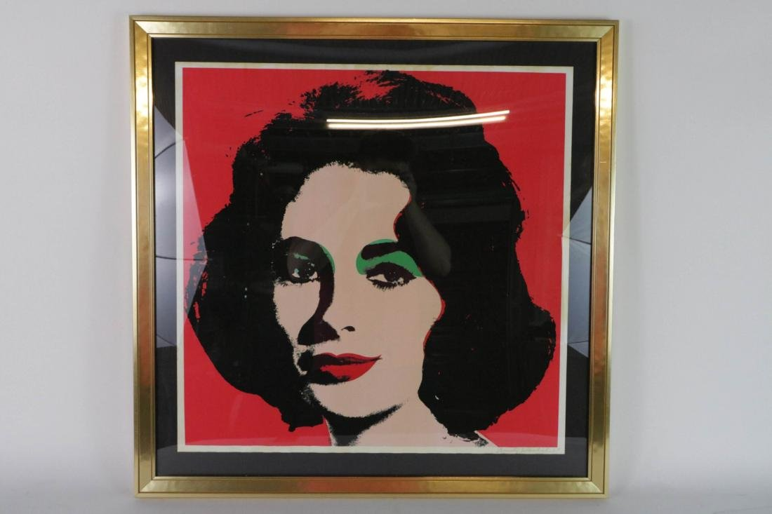 Andy Warhol. Image of a lady with signature