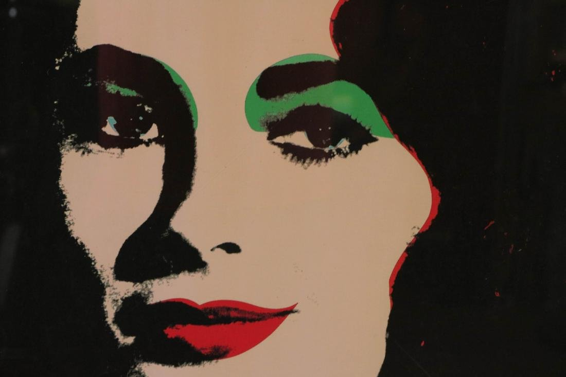 Andy Warhol. Image of a lady with signature - 2