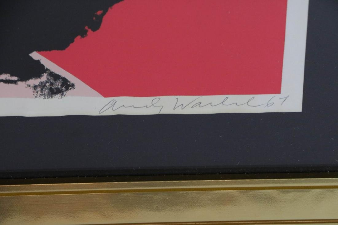 Andy Warhol. Image of a lady with signature - 3