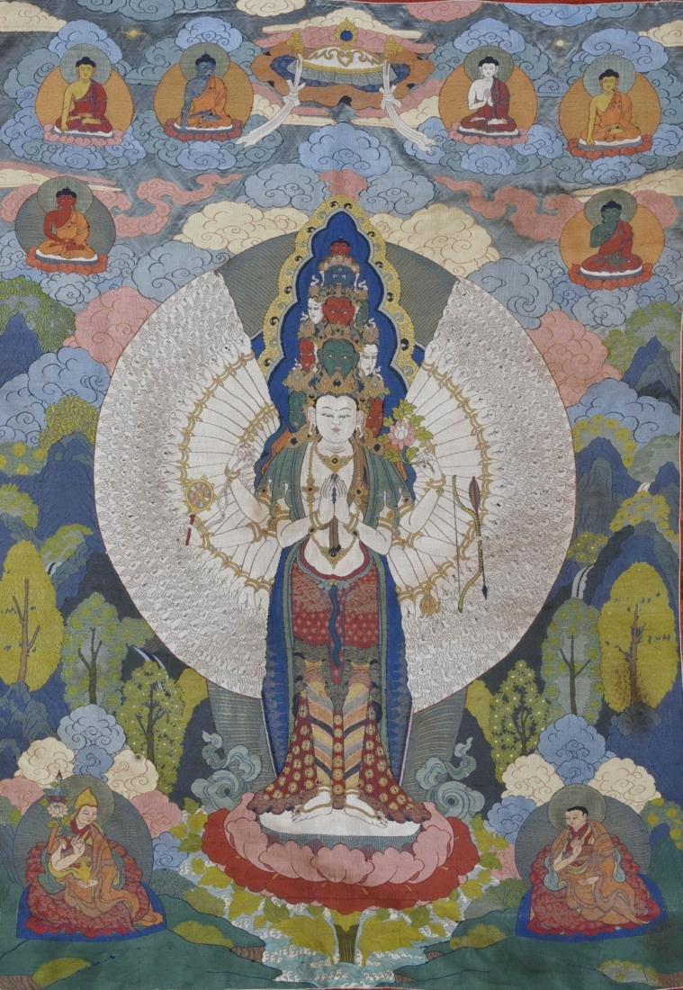 Tibetan Embroidery Tang Ka - 3