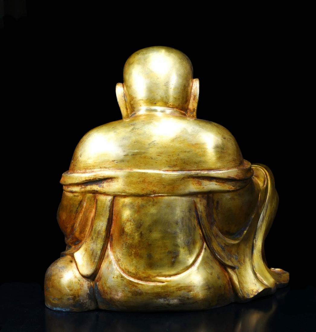 Chinese Gilt Bronze Buddha - 3