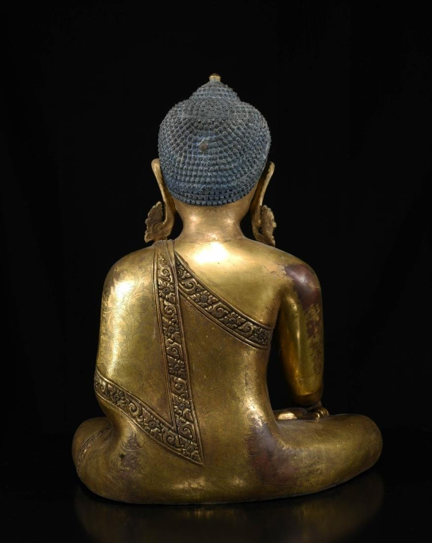 Chinese Bronze Gilt Buddha - 8