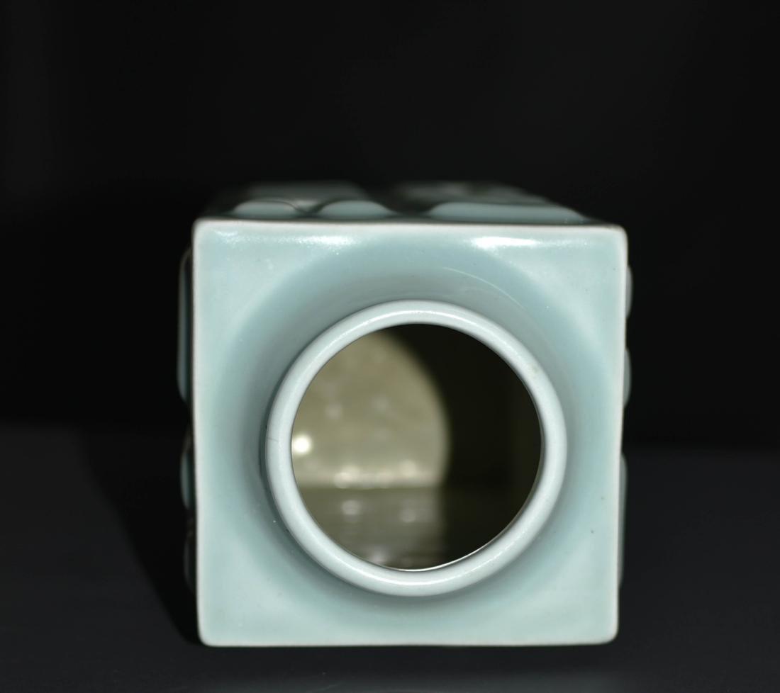 Chinese Bean Color Porcelain Vase - 3