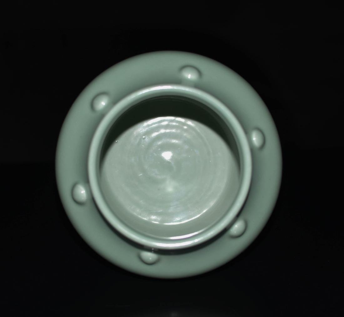 Chinese Bean Color Porcelain Jar - 3