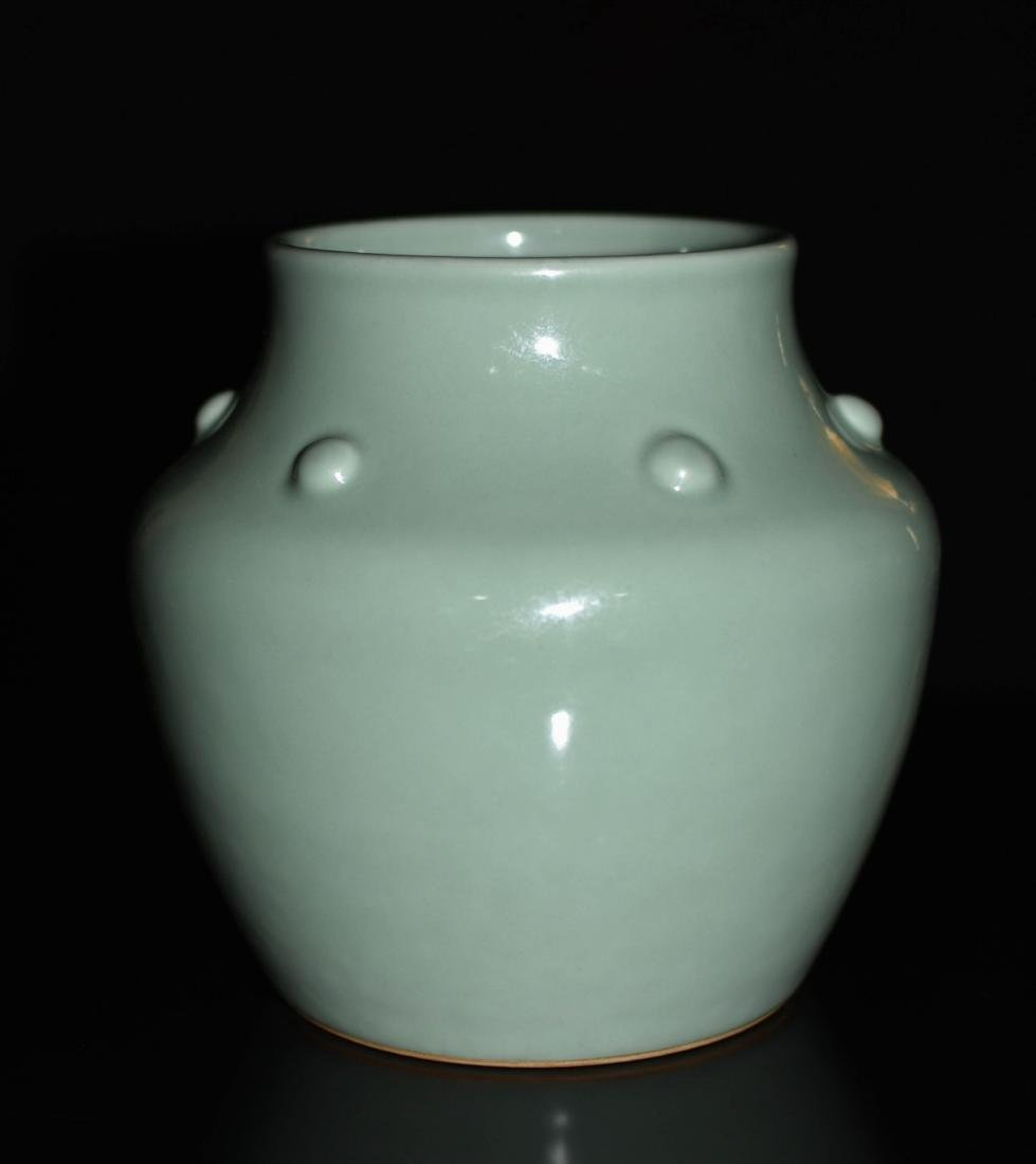 Chinese Bean Color Porcelain Jar - 4