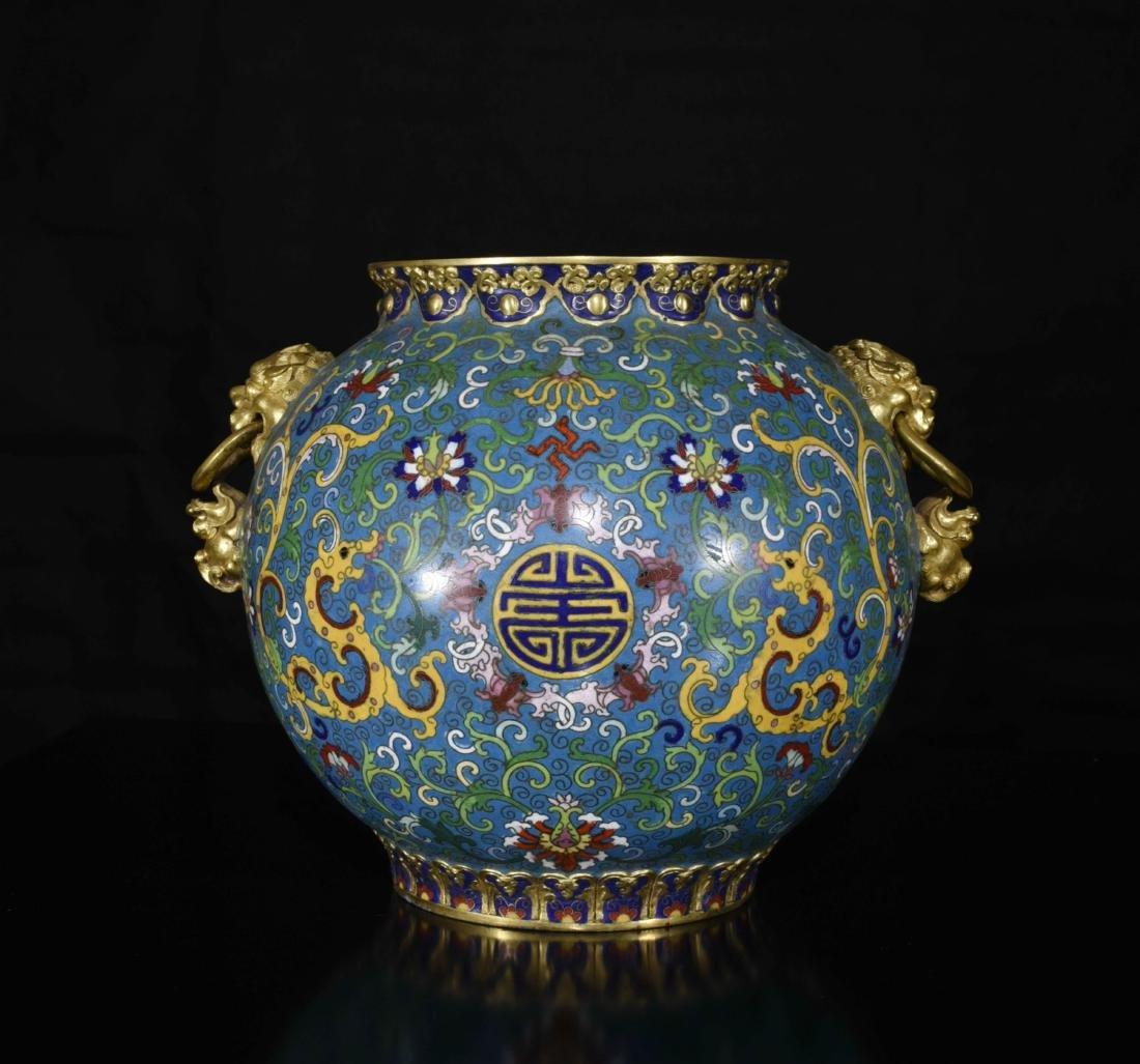 Chinese Gilt Bronze Enamel Jar