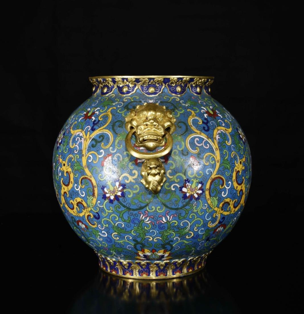 Chinese Gilt Bronze Enamel Jar - 2