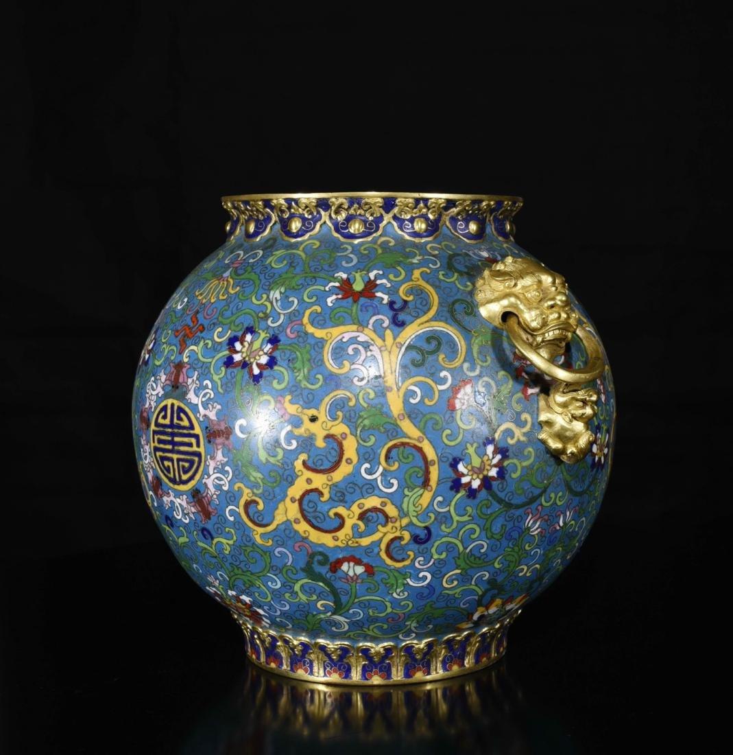 Chinese Gilt Bronze Enamel Jar - 3
