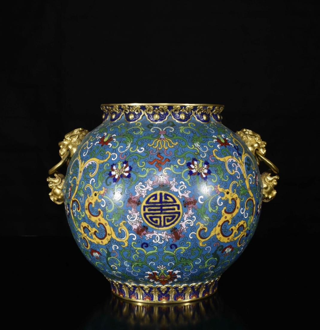 Chinese Gilt Bronze Enamel Jar - 4
