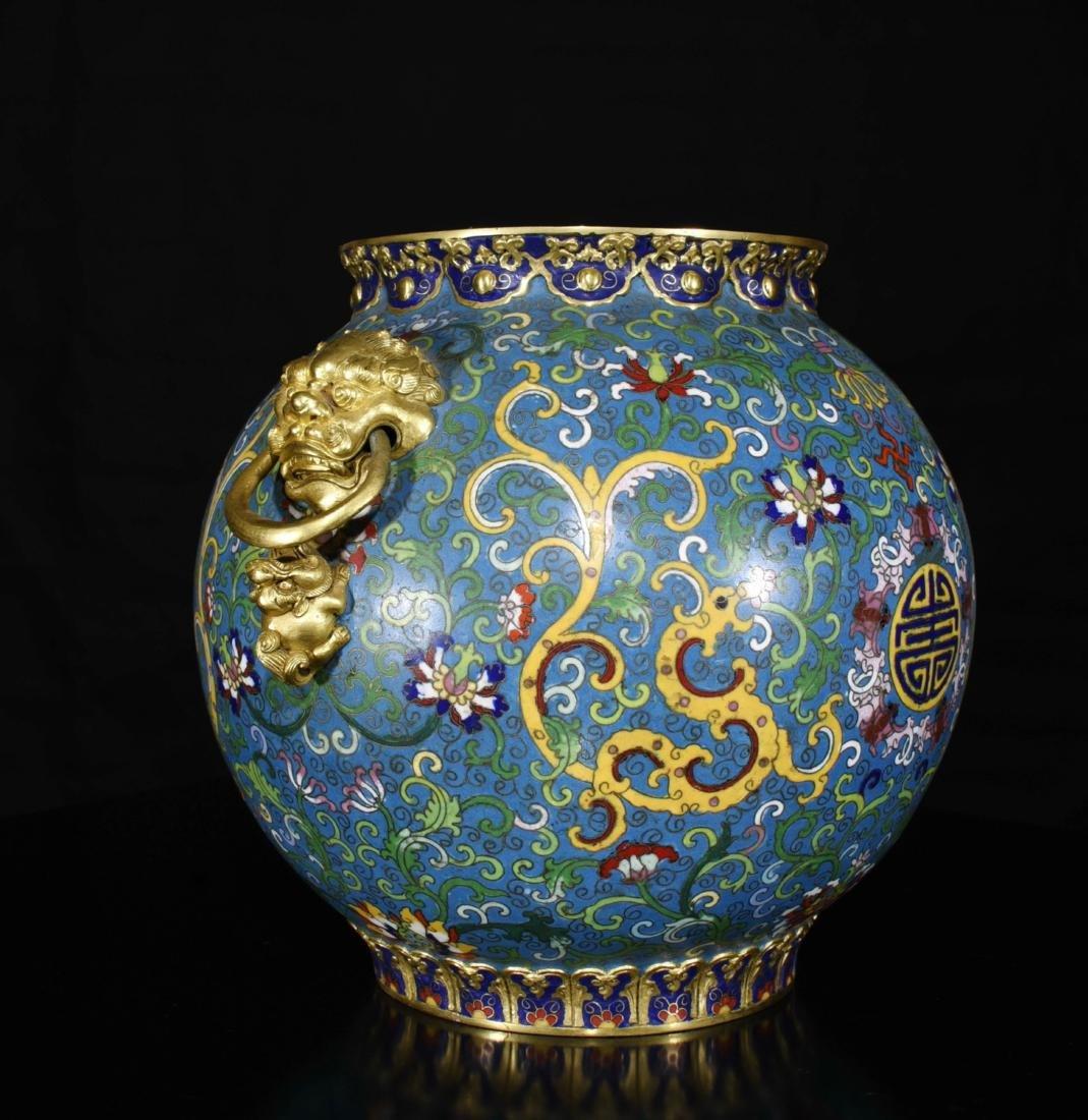 Chinese Gilt Bronze Enamel Jar - 5
