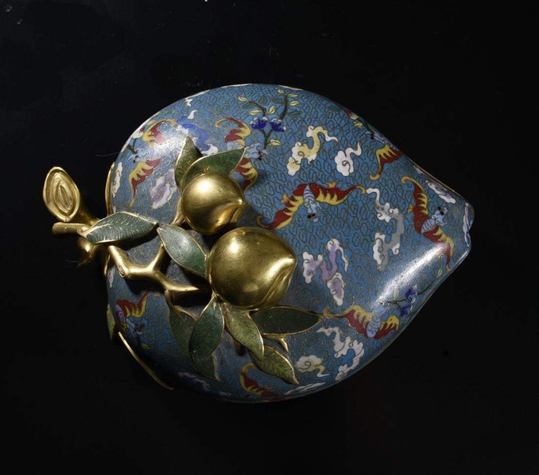 Chinese Gilt Bronze Enamel Box - 2