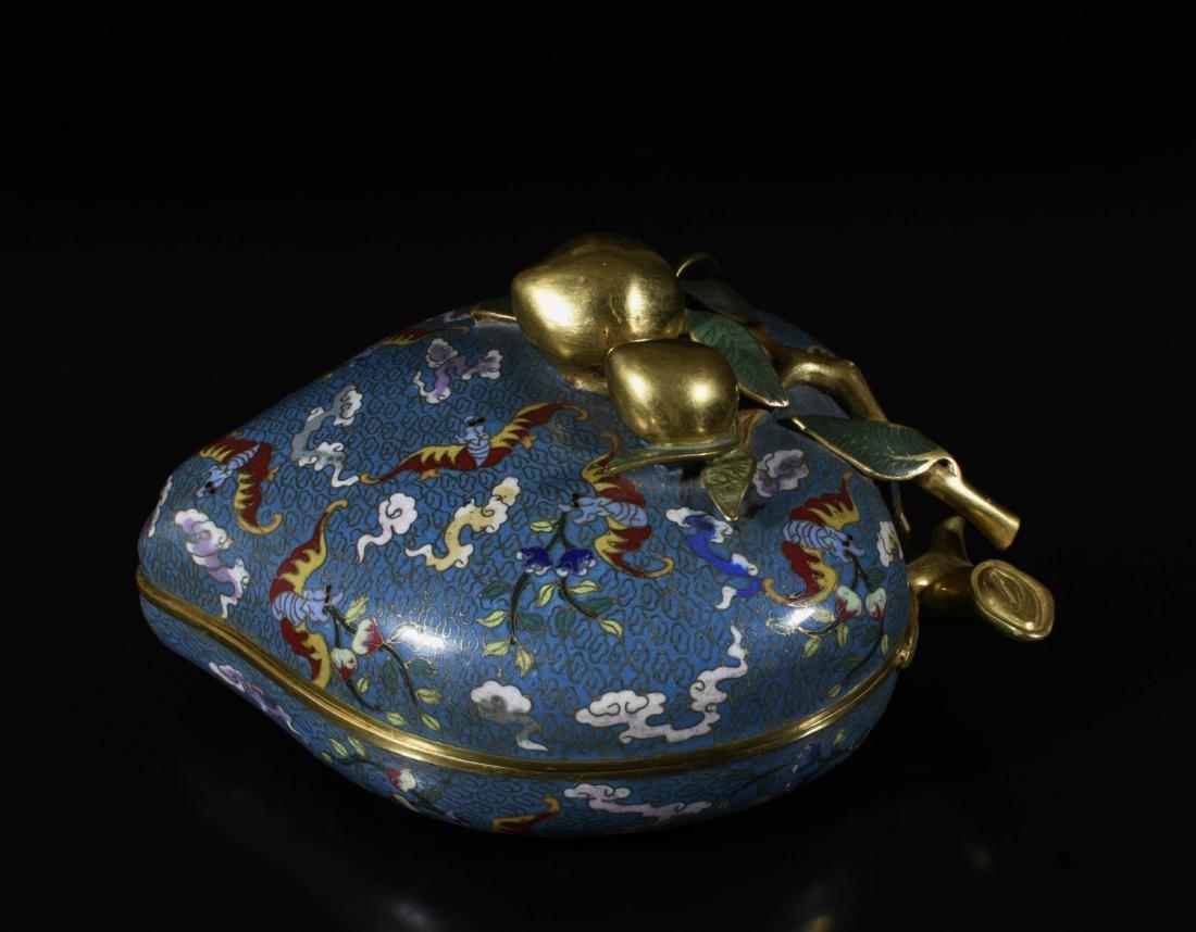 Chinese Gilt Bronze Enamel Box - 4
