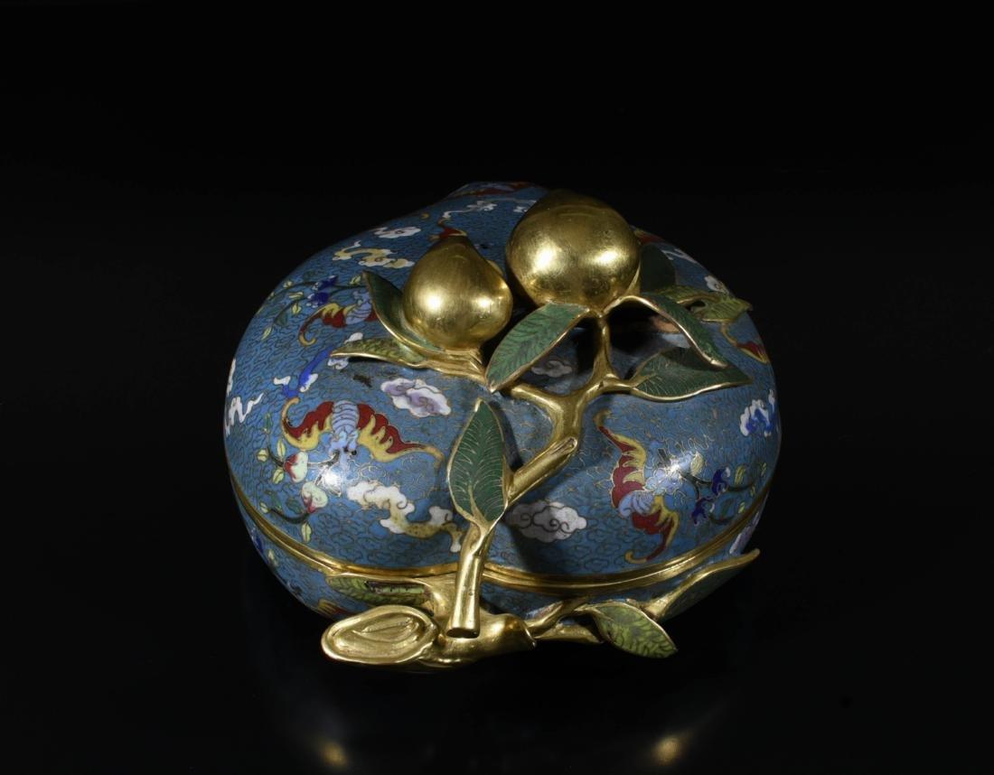 Chinese Gilt Bronze Enamel Box - 5
