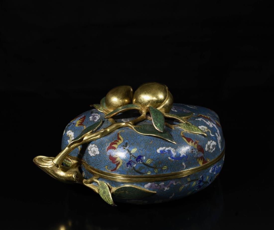 Chinese Gilt Bronze Enamel Box - 6