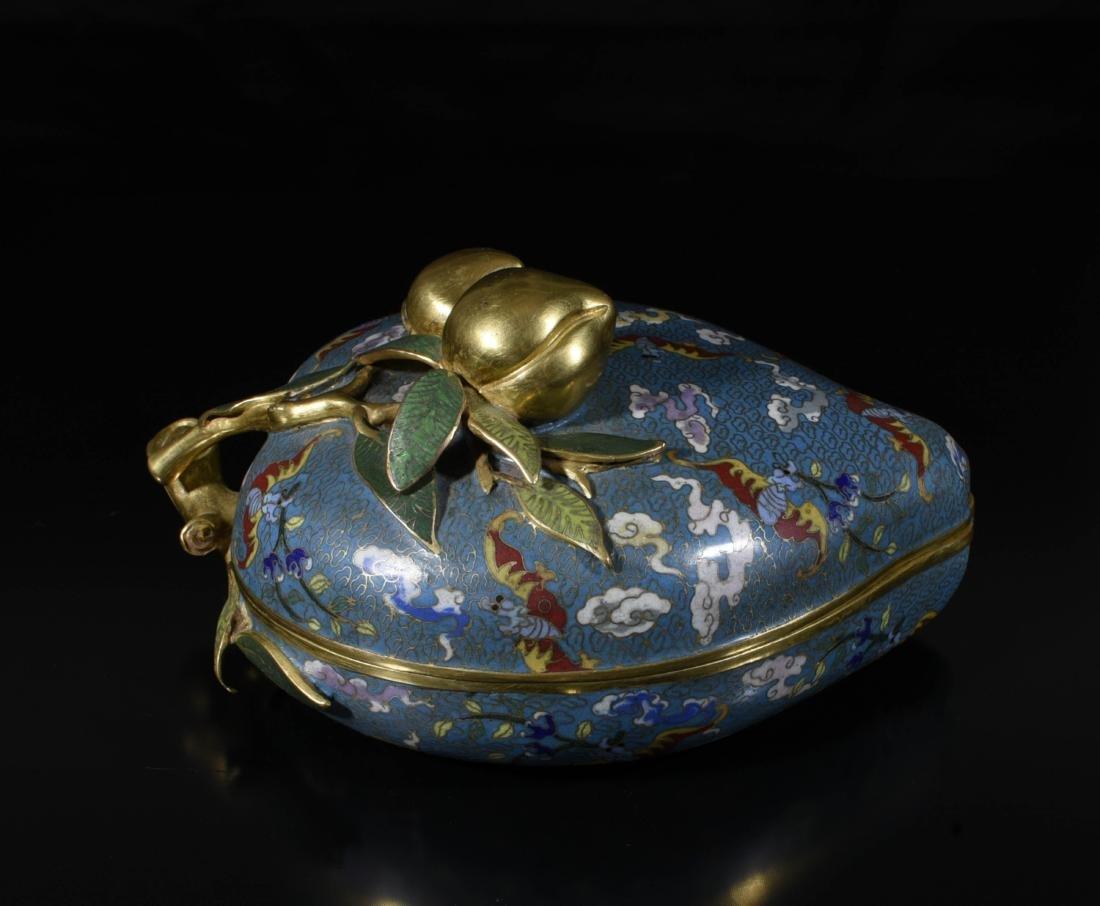 Chinese Gilt Bronze Enamel Box - 7