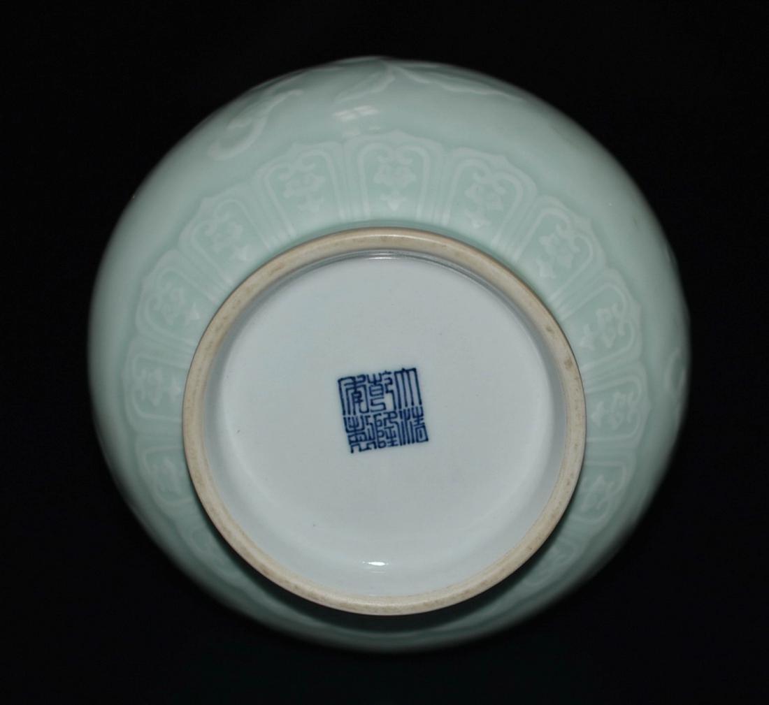 Chinese Bean Color Porcelain Vase - 4