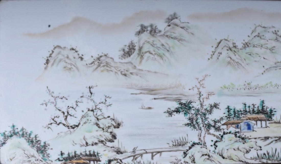 Chinese Porcelain Plaque Without Frame - 3