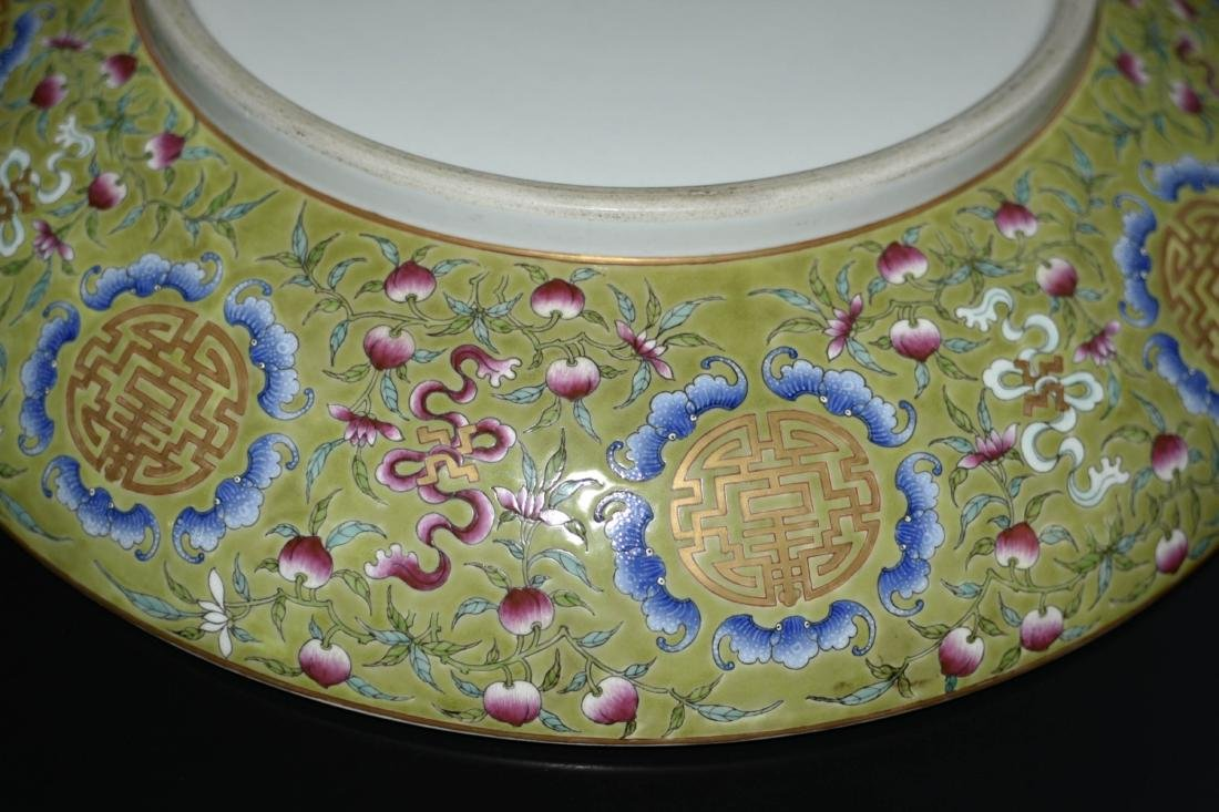 Chinese Famille Rose Porcelain Plate - 7