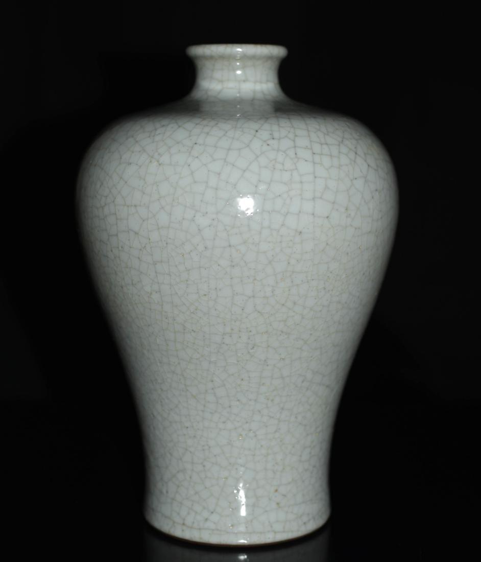 Chinese Ge Ware Porcelain Floral Vase - 3