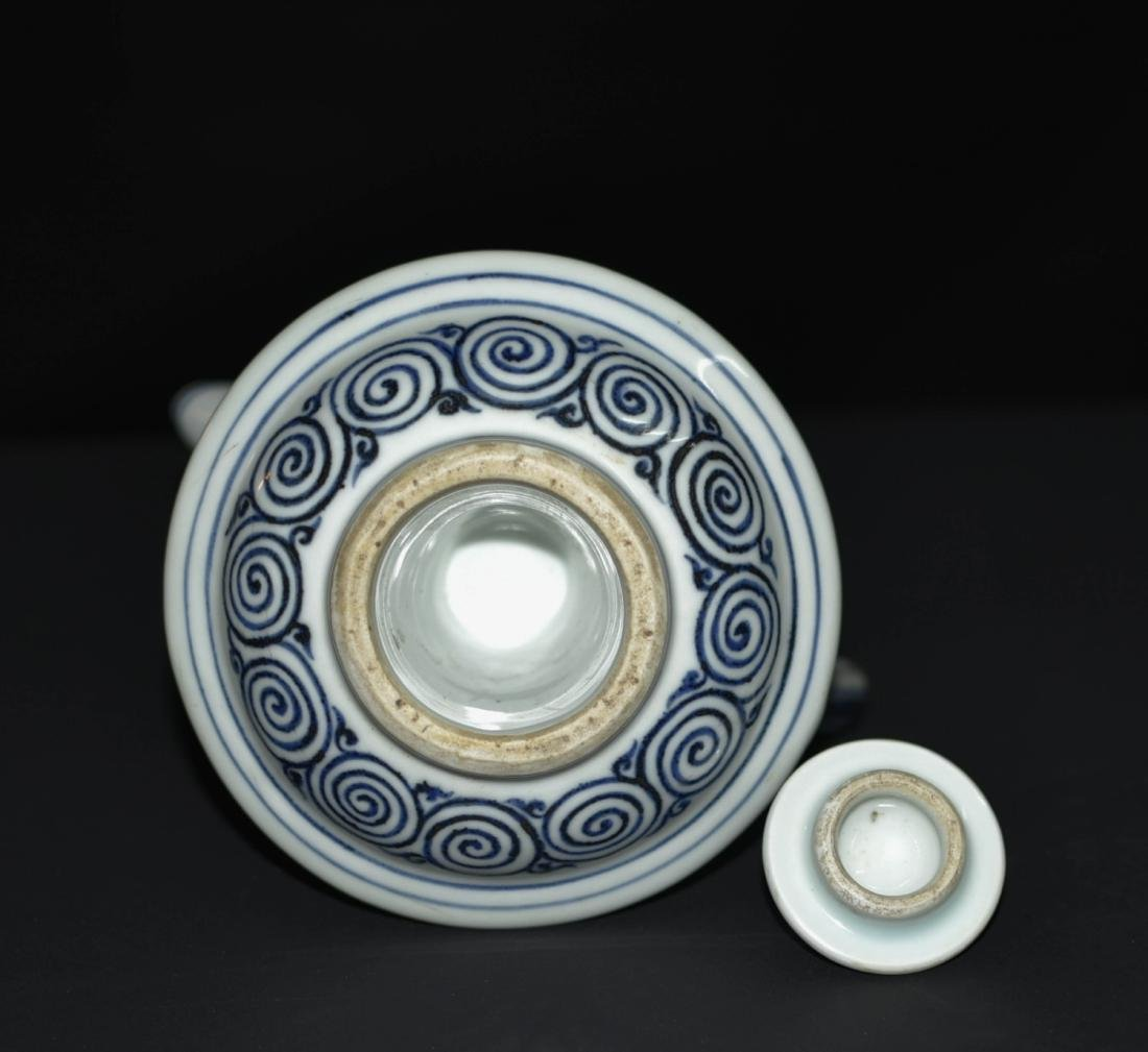 Chinese Blue And White Porcelain Pot - 6