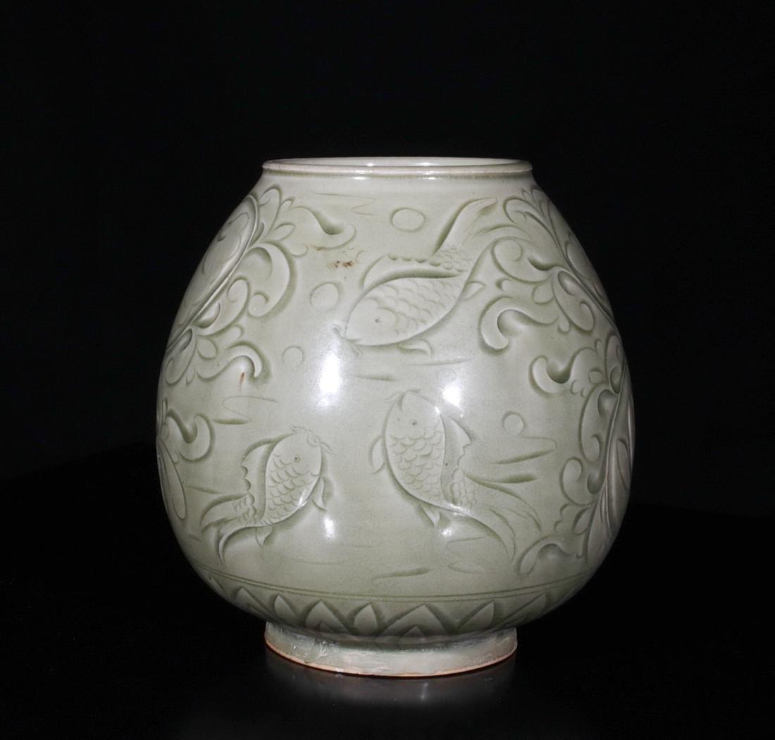 Chinese Yao Zhou Porcelain Jar - 2